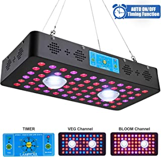 1200W COB LED Grow Light Full Spectrum LAMPSOUL LED Plant Growing Lamp with Auto On/Off Timer and Daisy Chain for Indoor P...