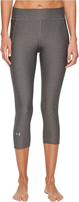 NWT Under Armour HeatGear Large Graphic Mens 3//4 Leggings Black Charcoal