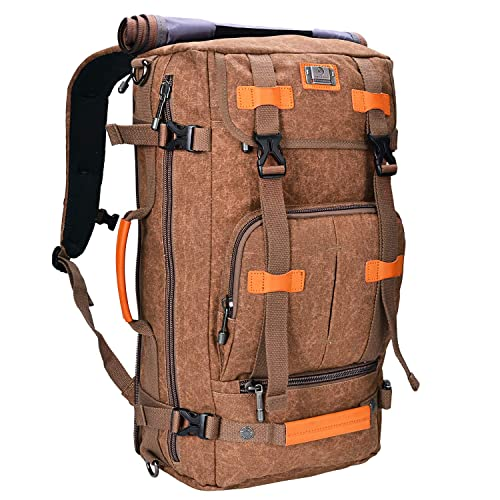 WITZMAN Canvas Backpack Vintage Travel Backpack Hiking Luggage Rucksack  Laptop Bags a4c325786acbf