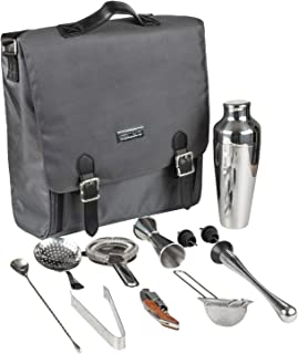 Bartender Kit: Cocktail Shaket Set with Bartender Travel Bag, Perfect for Travel