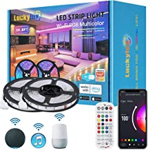 LUCKYLUX Smart 32.8ft LED Strip Lights, WiFi LED Lights Work with Alexa and Google Assistant, 16...