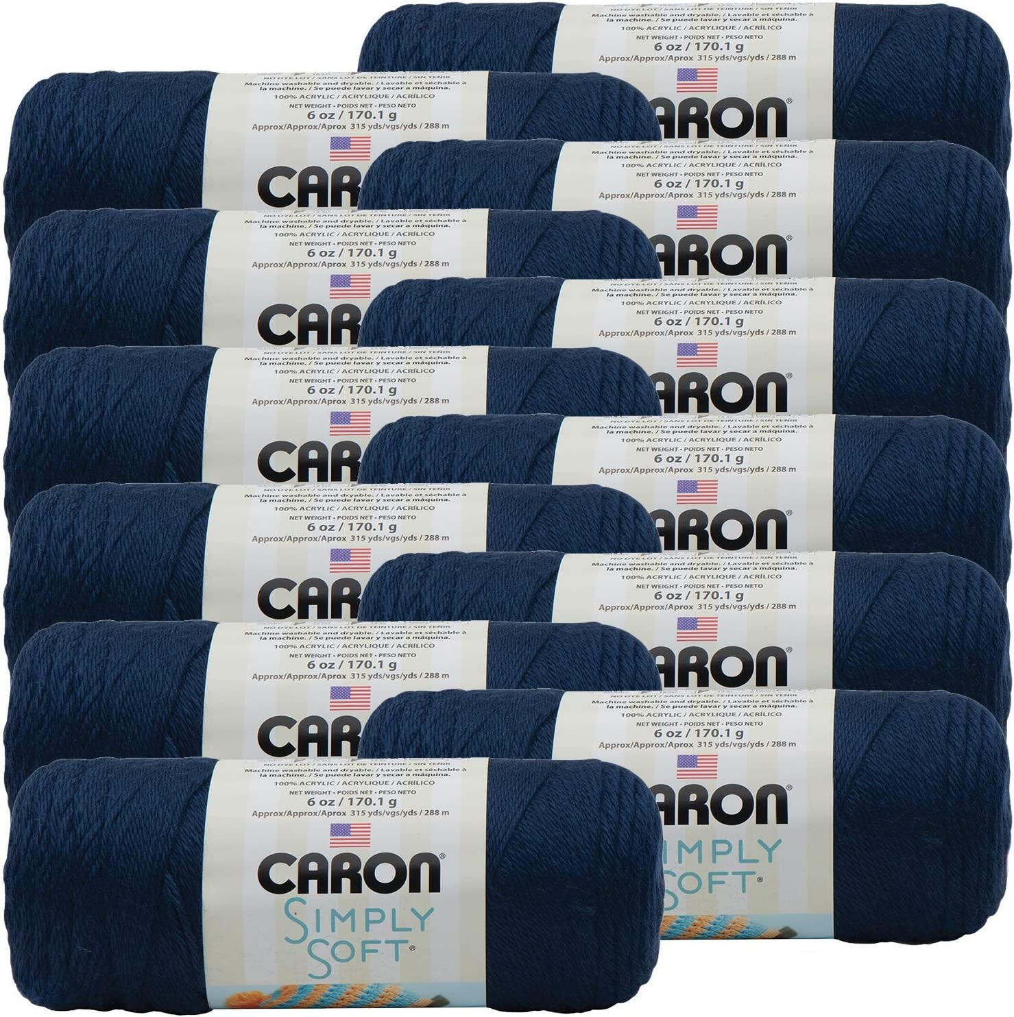 Caron Dark Country Blue Simply Max 69% OFF Soft Multipack Yarn Solids of NEW before selling ☆ 1