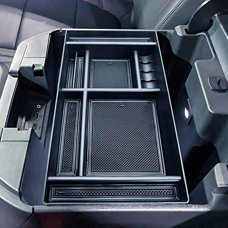 Techouter Center Console Organizer Tray for 2019 Chevy Silverado 1500,GMC Sierra 1500 Full Center Console Models Only-GM Vehicles Accessories 84106530 Armrest Box Secondary Storage