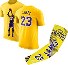 James Basketball Lebron Home T-Shirt Kids Youth Sizes Premium Quality Gift Set with Shooter Arm Sleeve or Backpack