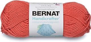 Bernat Handicrafter Cotton Solids Yarn, 1.75 oz, Gauge 4 Medium, 100% Cotton, Tangerine