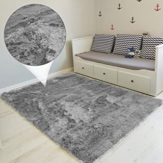 comprar comparacion Amazinggirl alfombras Salon Grandes - Pelo Largo Alfombra habitación Dormitorio Lavables Comedor Moderna vivero Gris 160 x...