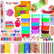 DIY Slime Kit for Girls Boys – Ultimate Slime Making Kits – Slime Supplies - 18 Slime Containers add ins Floam beads, Glitter, Galaxy, Mermaid, Fishbowl Crunchy Unicorn Clear Slime–Fun for Kids Party