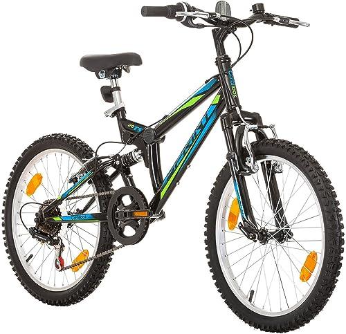 Multibrand, Sprint, 20 Zoll, Mountainbike, Rahmen 31 cm, 6-Gang, Für Damen, Kinder, Junioren, Schwarz