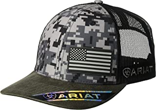 Men's Patriot Mesh Back Rubber Flag Cap, Multi/Color, One Size