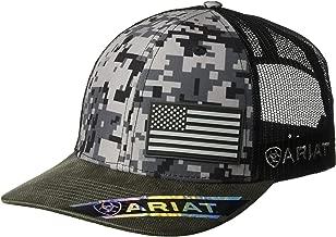 ARIAT Men's Patriot Mesh Back Rubber Flag Cap, Multi/Color, One Size