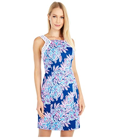 Lilly Pulitzer Makayla Stretch Shift (Oyster Bay Blue Miss Shell) Women
