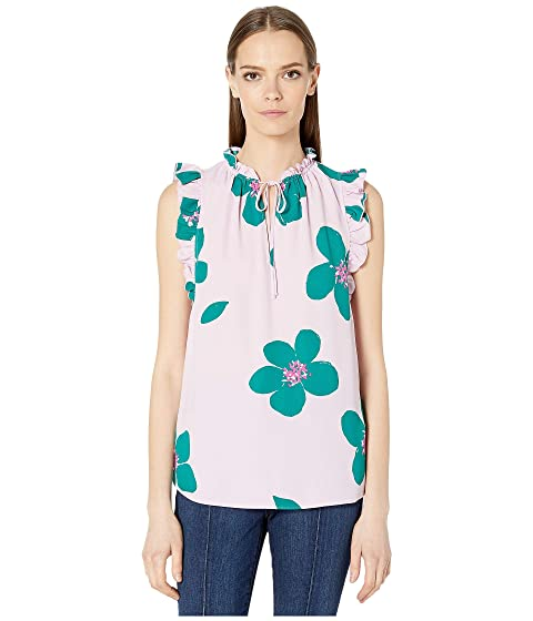 Kate Spade New York Grand Flora Tie Neck Shell