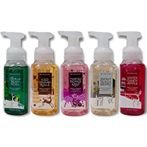 Bath and Body Works Holiday Traditions Gentle Foaming Hand Soap (Set of 5)