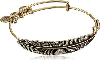 brass feather bracelet