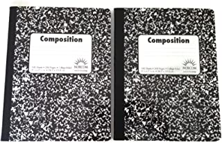 Double Pack Black and White Abstract 100 Sheet / 200 Page Composition Books (Wide Ruled) by Norcom