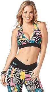 Zumba V Neck Style Women Compression Bra Dance Workout High Impact Sports Bra