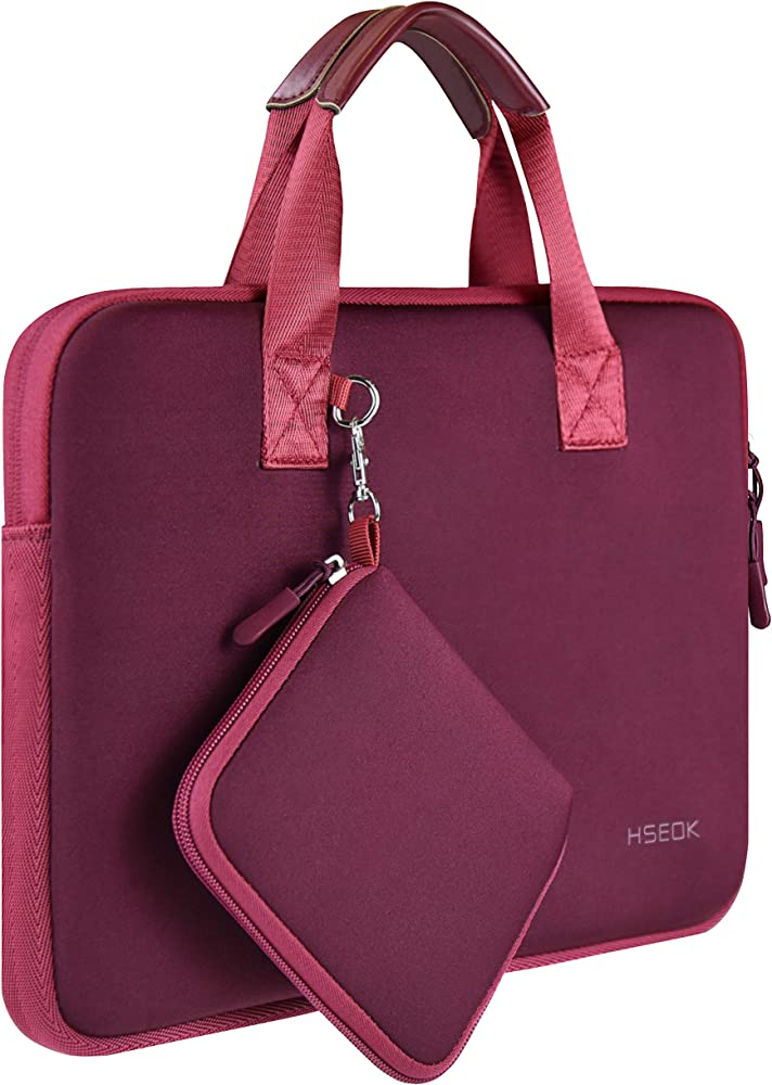 Borsa porta laptop,13-13,5 pollici ,neoprene elastico impermeabile sleeve per macbook HS012-handle-133-Red
