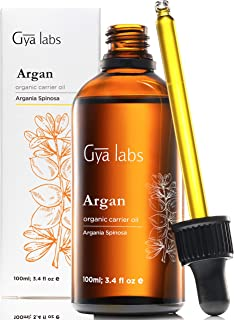 Gya Labs Organic Moroccan Argan Oil For Hair, Clear & Hydrated Skin - 100% Pure, Natural & Cold Pressed Carrier Oil Hair O...