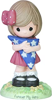 Precious Moments, Forever My Hero, Bisque Porcelain Figurine, Girl, 154057