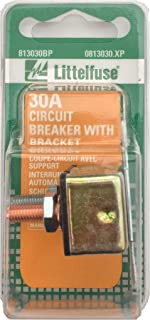 Littelfuse 0813030.XP 30A Stud Type Low Voltage Circuit Breaker with Mounting Bracket