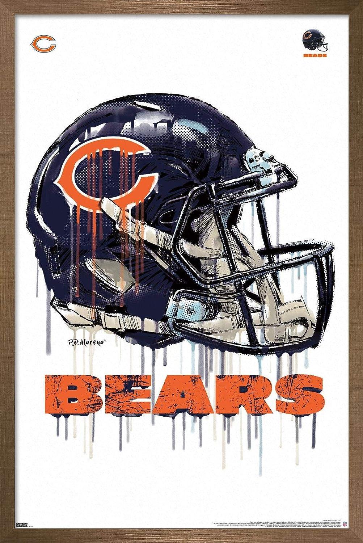 人気 Trends International NFL Chicago Bears - Pos Helmet Drip Wall 20 激安