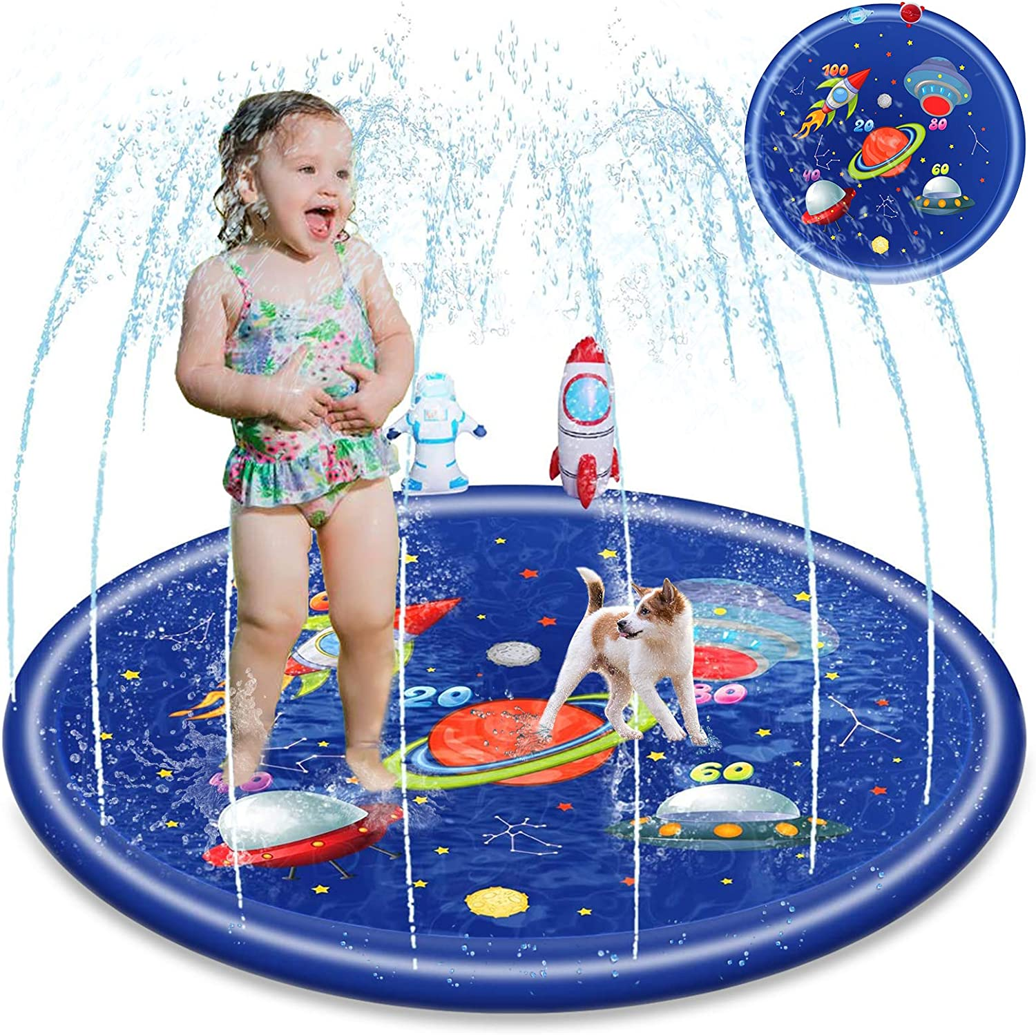 Splash Pad Credence for Kids Toddler Baby 68inch Toy Sprinkler Summer Out Columbus Mall
