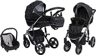 Passeggino SaintBaby Lava Silver 2in1 3in1 Isofix seggiolino per bambini passeggino combi buggy Black 04 2in1 Senza Ovetto