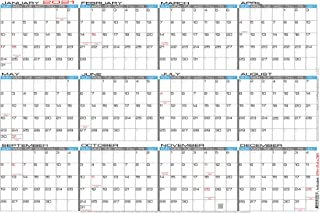 "JJH Planners - Laminated - 24"" X 36"" Large 2021 Erasable Wall Calendar - Horizontal 12 Month Yearly Annual Planner (21h-24x36)"
