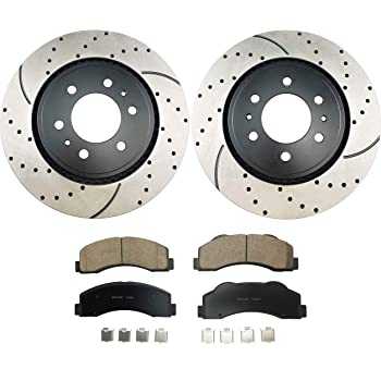 Premium Cross Drilled Rotors + Ceramic Pads Max Brakes Front /& Rear Performance Brake Kit KT146023 Fits: 2014 14 Fits Subaru Impreza Sti w//326mm Front Rotor/&316mm Rear Rotor