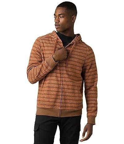 Prana Cardiff Fleece Full Zip (Cedar Stripe) Men