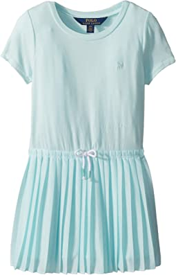 Polo Ralph Lauren Kids Pleated Jersey T-Shirt Dress (Toddler)