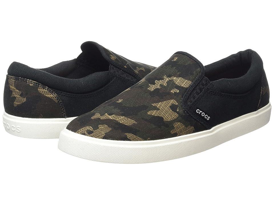Crocs CitiLane Graphic Slip-On Sneak (Camo/Black) Men