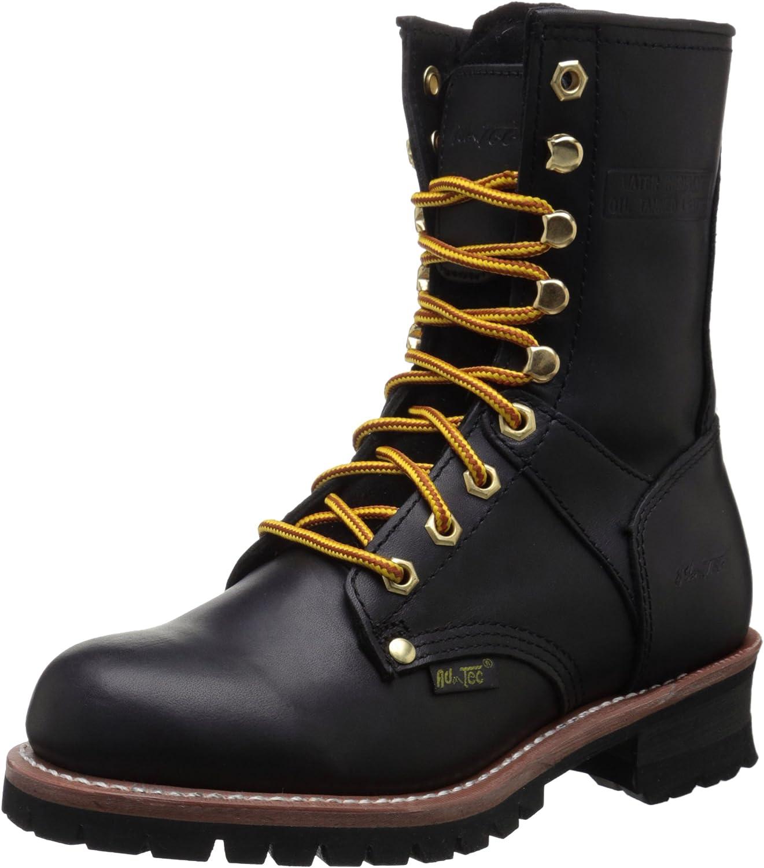 Adtec Women's 9  Logger Black Work Boot