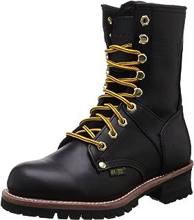 "AdTec Women's 9"" Logger Black Work Boot"