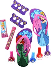 Townley Girl Spa Day Set, Includes 4 Nail Polish, Flip Flops (Girls 10-11) and Toe..