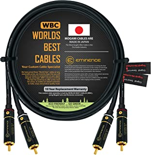 3 Foot – Directional Quad High-Definition Audio Interconnect Cable Pair Custom Made by WORLDS BEST CABLES – Using Mogami 2...