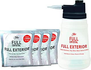 Full Exterior Kit - Bottle, Lid with Hose Attachment and Four 4 oz. Crystal Powder Outdoor Cleaner : Non-Toxic, No Scrub, No Rinse Cleaning Kit - Shipped Product Packaging May Vary