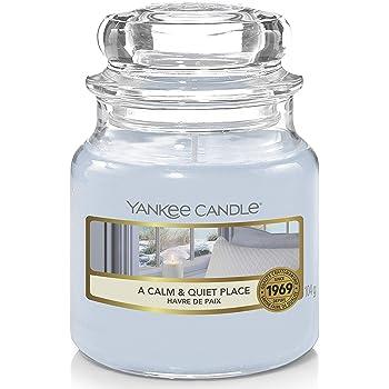 Yankee Candle Candela profumata in giara piccola | Un posto calmo e tranquillo | Durata Fino a 30 Ore