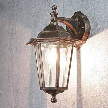 Außenleuchte Anthrazit Rustikal BREST Wand Lampe Laterne Garten Haus Hof