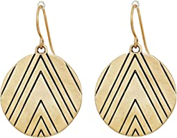 The Sak - Etched Disc Drop Earrings
