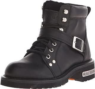 AdTec Women's 6 Lace Zipper Boot Black Work Boot