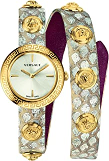 Medusa Stud Icon Quartz Silver Dial Ladies Watch VERF00118