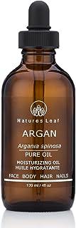 Natures Leaf Virgin Organic Moroccan Gold Argan Oil 100% Pure / Cold Pressed / Fair Trade / Unrefined / Anti-Aging / Split...