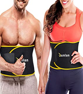 Junlan Workout Waist Trainer Weight Loss Trimmer Belt Corset Exercise Body Band Gym Sauna Sweat Wrap Sport Slimming Abs Belts