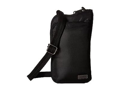 Pacsafe Daysafe Anti-Theft Tech Crossbody Bag (Black) Cross Body Handbags