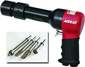 AIRCAT 5300-A .498 Shank Opening Air Hammer Kit with 4 Chisels, Medium, Red & Black