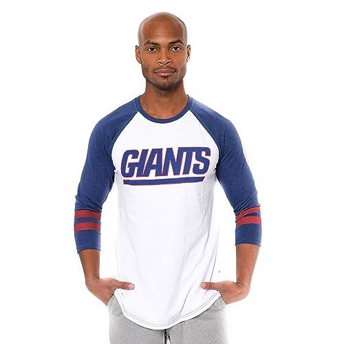 0b77bb8ee481b ICER Brands NFL Men's T-Shirt Raglan Baseball 3/4 Long Sleeve Tee Shirt
