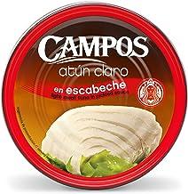 Campos, Conserva de atún claro en escabeche tradicional - pandereta/ lata de 1900 g.