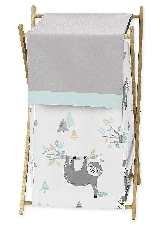 Sweet Jojo Designs Blue and Grey Sacramento Mall Leaf Clot Jungle Baby Sloth Kid Animer and price revision