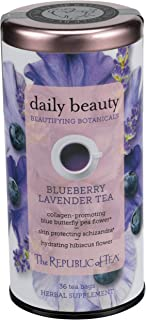 The Republic of Tea Beautifying Botanicals Daily Beauty Herbal Tea, 36 Tea Bag Tin
